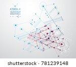 technical plan  abstract... | Shutterstock . vector #781239148