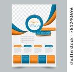 blue and orange business flyer. ... | Shutterstock .eps vector #781240696