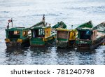 old fishing boats in panama... | Shutterstock . vector #781240798