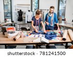 couple of fashion designers... | Shutterstock . vector #781241500