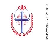 cross of christianity graphic... | Shutterstock . vector #781242010