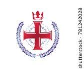 christian cross decorative... | Shutterstock . vector #781242028