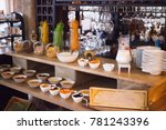 breakfast in the restaurant... | Shutterstock . vector #781243396