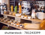 breakfast in the restaurant... | Shutterstock . vector #781243399