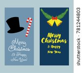a set of christmas and new year ... | Shutterstock .eps vector #781244803