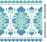blue and green floral seamless... | Shutterstock .eps vector #781246348