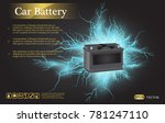 car battery with electric... | Shutterstock .eps vector #781247110