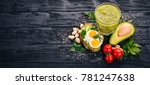 sandwich with avocados  eggs ... | Shutterstock . vector #781247638