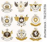classy heraldic coat of arms.... | Shutterstock . vector #781251556