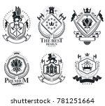 heraldic signs  elements ... | Shutterstock . vector #781251664