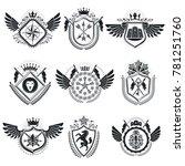heraldic coat of arms... | Shutterstock . vector #781251760