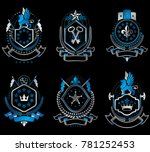 set of luxury heraldic... | Shutterstock . vector #781252453