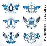 vintage decorative heraldic... | Shutterstock . vector #781252510