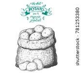potato vector illustration. bag ...   Shutterstock .eps vector #781253380