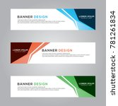 abstract banner background... | Shutterstock .eps vector #781261834