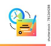 flat icon online exam. online... | Shutterstock .eps vector #781264288