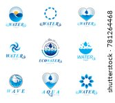 sea wave splash logo. pure... | Shutterstock . vector #781264468