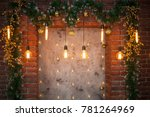 room with christmas decor  | Shutterstock . vector #781264969
