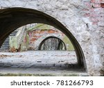 huge arches in an old brick... | Shutterstock . vector #781266793