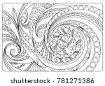 hand drawn tangled pattern in... | Shutterstock .eps vector #781271386