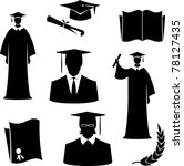 graduates and graduation items  ... | Shutterstock .eps vector #78127435