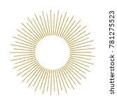 abstract golden sunburst on... | Shutterstock .eps vector #781275523