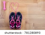 top view of sneakers and... | Shutterstock . vector #781280893