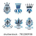 royal symbols lily flowers ... | Shutterstock . vector #781280938