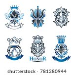 lily flowers royal symbols ... | Shutterstock . vector #781280944