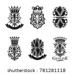 lily flowers royal symbols ... | Shutterstock . vector #781281118