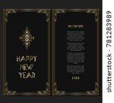 vintage retro style invitation... | Shutterstock .eps vector #781283989