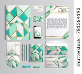 corporate identity template in... | Shutterstock .eps vector #781284193