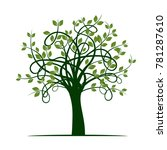 green tree. vector illustration. | Shutterstock .eps vector #781287610