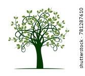 green tree. vector illustration. | Shutterstock .eps vector #781287610