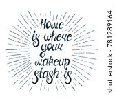 "illustration with quote "" home... 