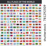 all flags of the world in... | Shutterstock .eps vector #781292509