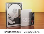 solid state drive ssd  hard... | Shutterstock . vector #781292578