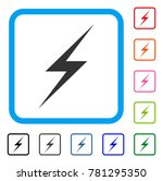 lightning icon. flat gray...