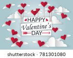 heart soaring on a background... | Shutterstock .eps vector #781301080