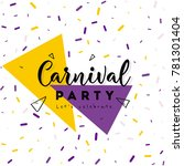 carnival concept banner with on ... | Shutterstock .eps vector #781301404
