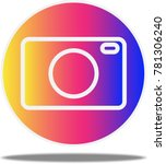 camera icon on rainbow gradient ... | Shutterstock .eps vector #781306240