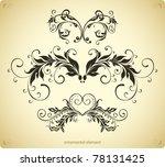 classic border decor | Shutterstock .eps vector #78131425
