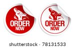 Order now stickers set.