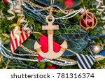 beautiful  colorful christmas... | Shutterstock . vector #781316374