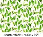 green tea leaves vector nature... | Shutterstock .eps vector #781317454
