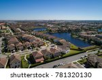 aerial image of a residential... | Shutterstock . vector #781320130