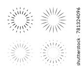 vintage sunburst vector design... | Shutterstock .eps vector #781324096
