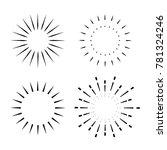 vintage sunburst design element | Shutterstock .eps vector #781324246