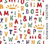 vector grunge alphabet seamless ... | Shutterstock .eps vector #781327438