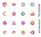 abstract colorful logo vector... | Shutterstock .eps vector #781328368